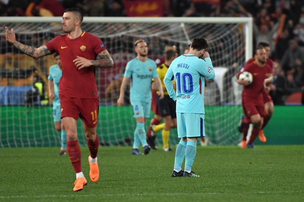 روما يحقق ريمونتادا فوزاً تاريخيا أمام برشلونة منذ 36 عاماً