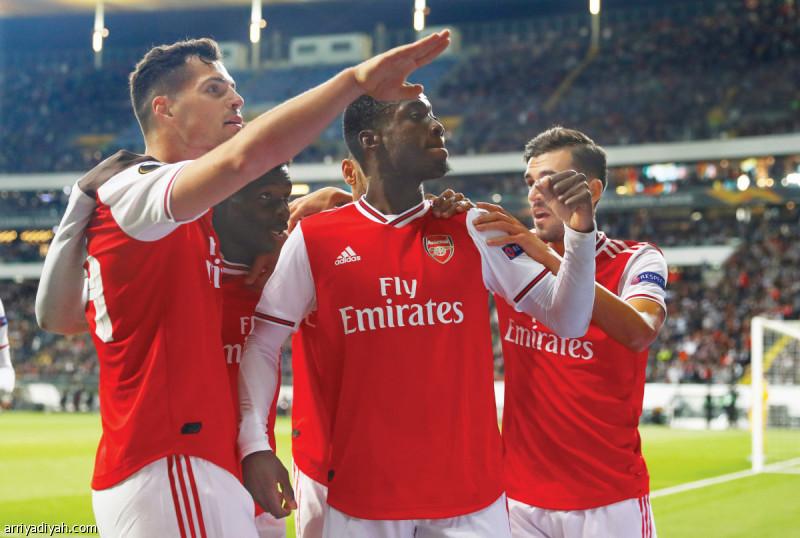 أرسنال ومانشستر يونايتد يفوزان في انطلاق الدوري الأوروبي