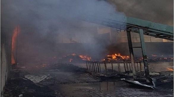 حريق يلتهم مستودع للأثاث المنزلي في قوز دبي