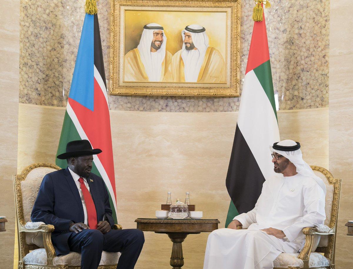محمد بن زايد يستقبل رئيس جنوب السودان