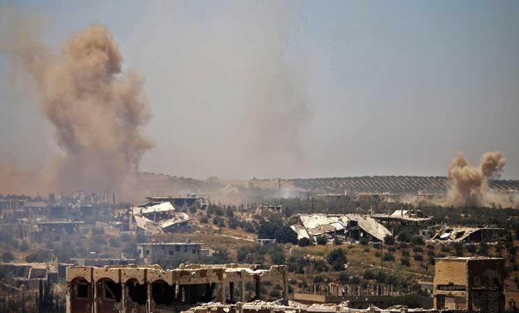 مقتل 22 مدنياً في غارات روسية على درعا جنوبي سوريا