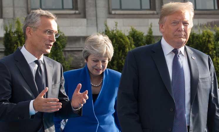 """ترامب """"يهدد بالانسحاب"""" من """"الناتو"""" بسبب خلاف حول الإنفاق الدفاعي"""