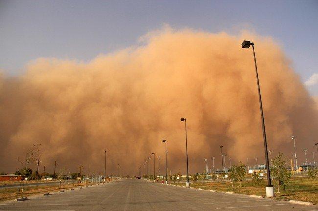 الدولة تتأثر بعاصفة ترابية قادمة من العراق والكويت