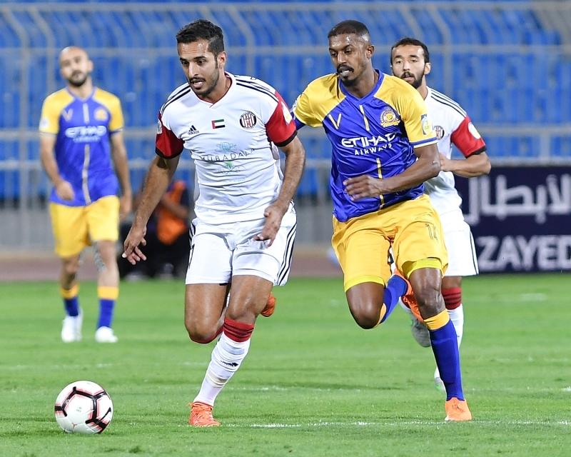 الجزيرة يدفع ثمن أخطائه أمام النصر السعودي في بطولة زايد