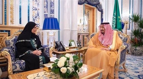 أمل القبيسي تلتقي العاهل السعودي على وقع التصعيد في الخليج