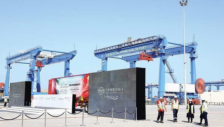 تدشين أكبر محطـة لفرز الحاويات بالشرق الأوسط في ميناء خليفة مطلع العام 2020