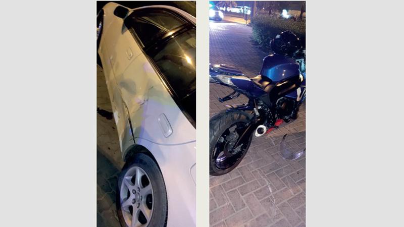 وفاة شاب خليجي بتدهور دراجة نارية في عجمان