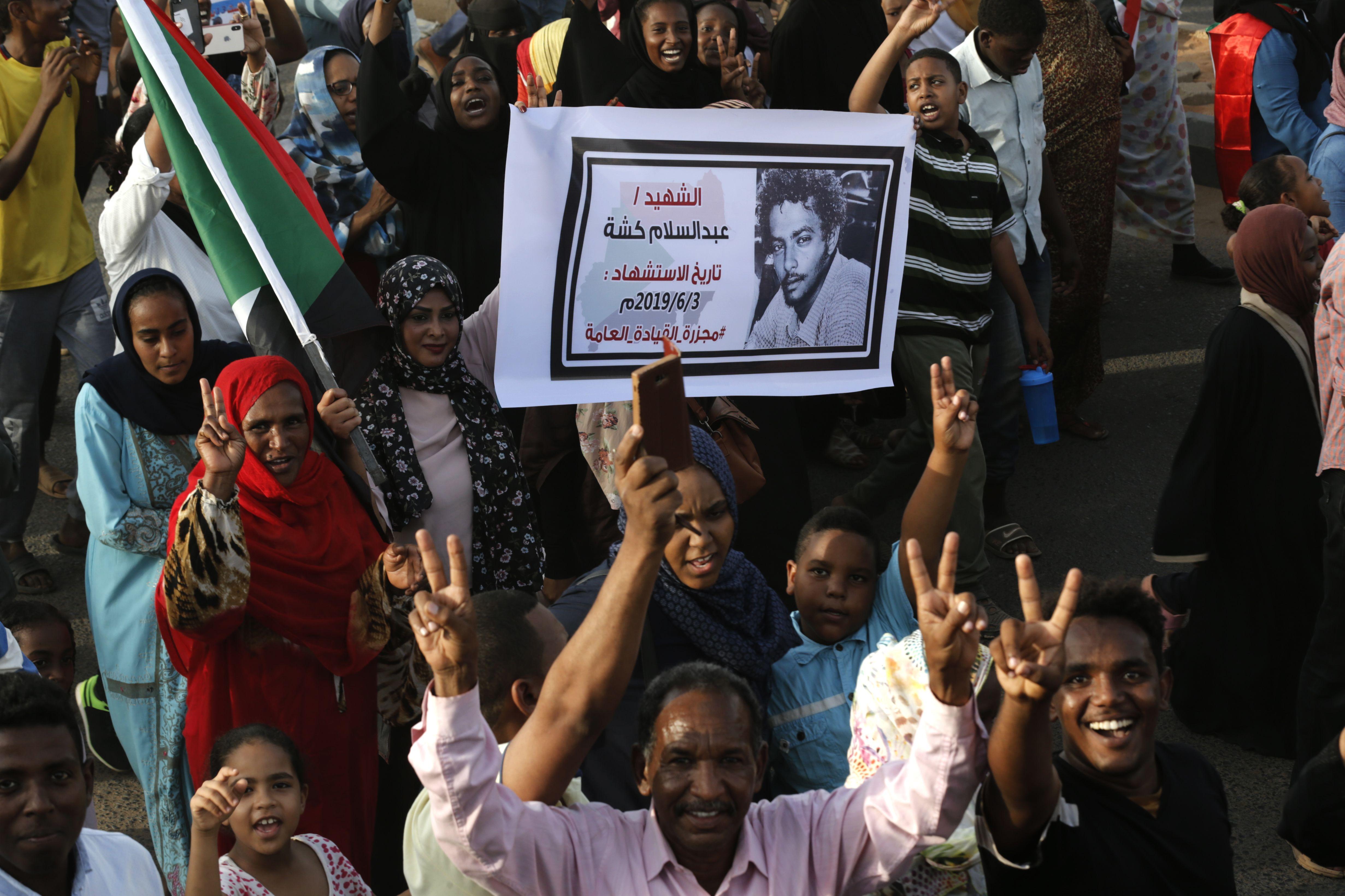 آلاف يتظاهرون في السودان في ذكرى مرور 40 يوما على فض الاعتصام