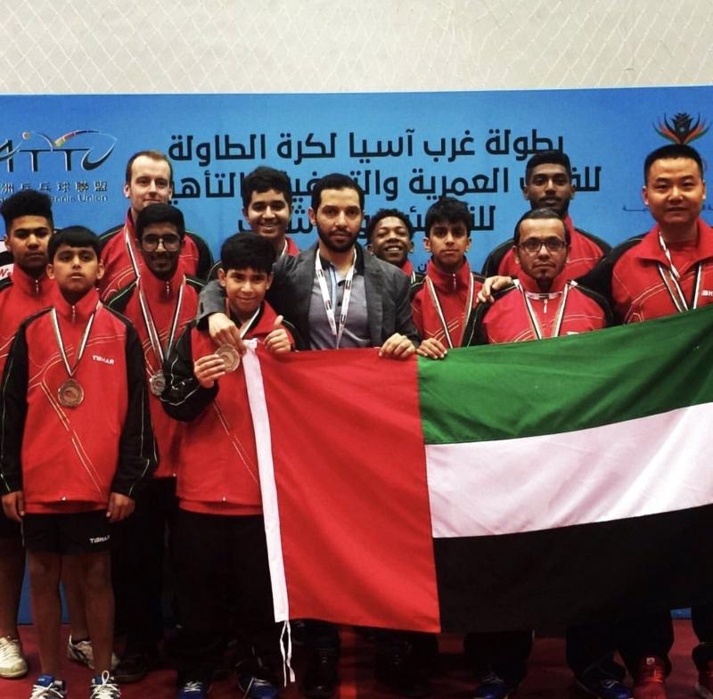 الإمارات تحصد 5 ميداليات في «طاولة غرب آسيا»