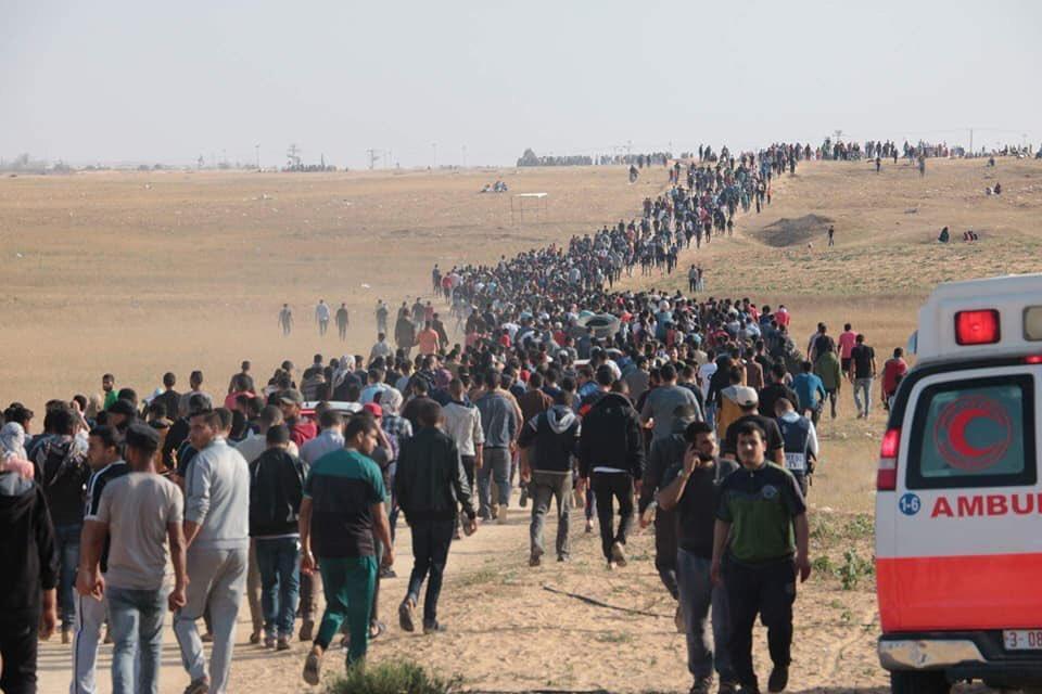 حتى اللحظة.. 41 شهيداً و1700 إصابة في يوم العودة الأكبر نحو فلسطين