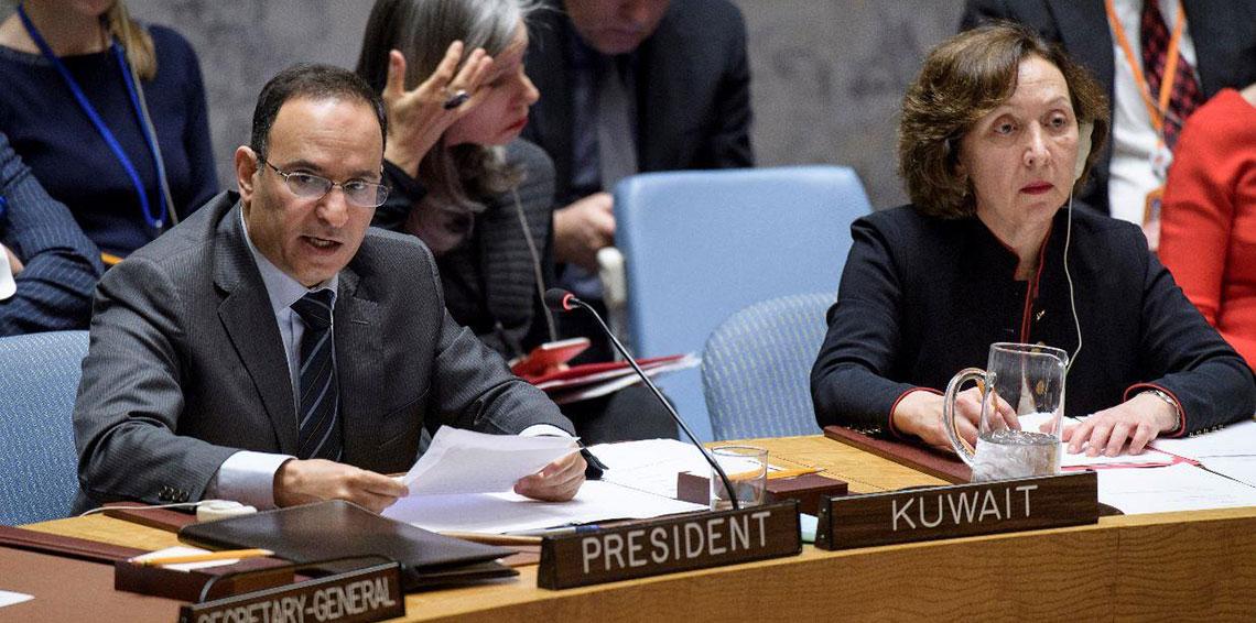 الكويت تستعد لطرح مشروع قرار على مجلس الأمن بشأن حماية الفلسطينيين