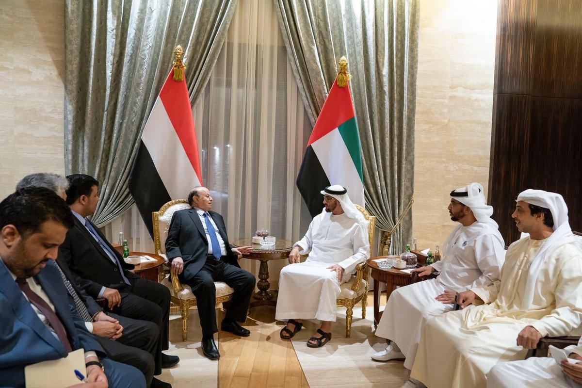 هادي يوجه وزراء حكومته بعدم انتقاد الدور الإماراتي في اليمن