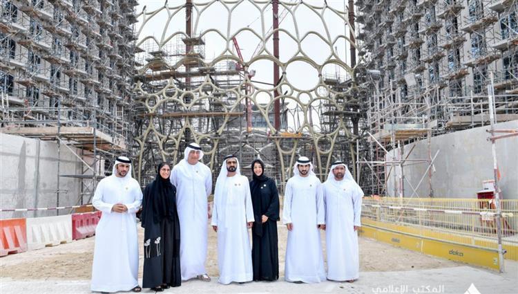 محمد بن راشد يتفقد مشاريع البنية التحتية لـإكسبو 2020 دبي