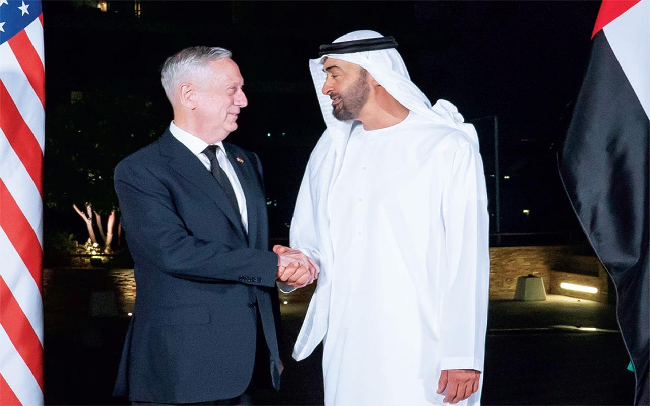 محمد بن زايد وماتيس يبحثان في أبوظبي علاقات الصداقة والتعاون