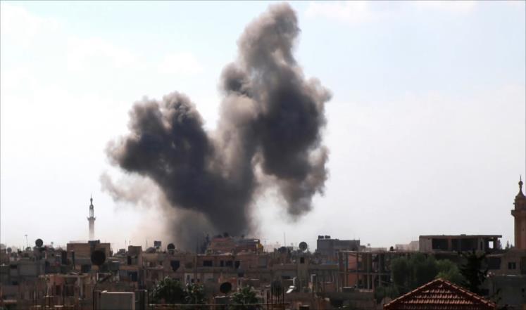 غارات جوية مجهولة على حلب ودير الزور