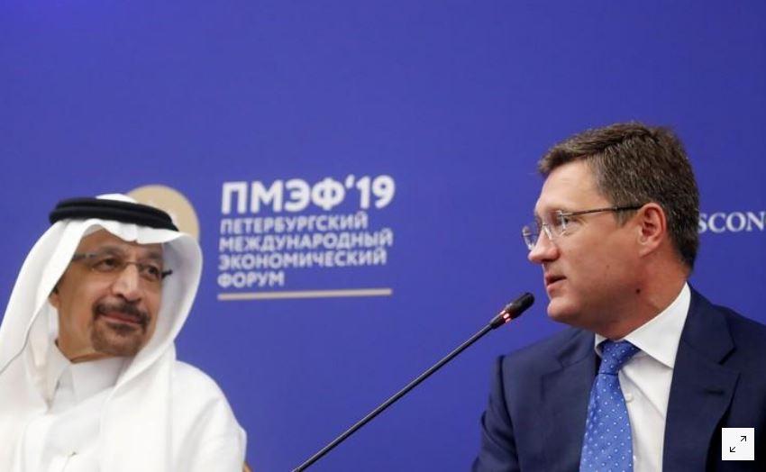 وزير الطاقة السعودي يجتمع مع نظيره الروسي لبحث سوق النفط