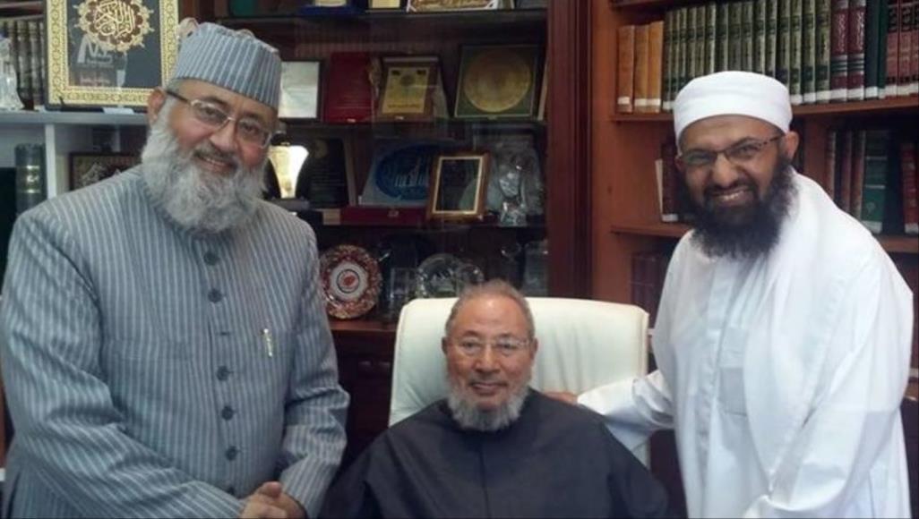 علماء المسلمين يلوح بمقاضاة قناتين سعوديتين بعد فبركة خبر عن القرضاوي