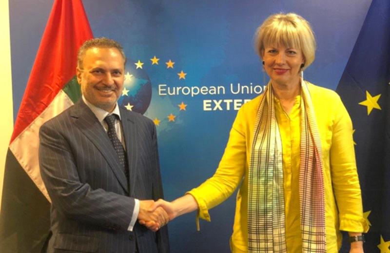 قرقاش: قيمة التبادل التجاري الإماراتي الأوروبي يفوق 50 مليار يورو