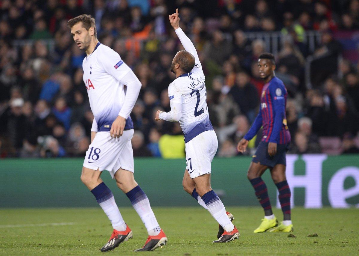 توتنهام يتعادل مع برشلونة ويتأهل لثمن النهائي الأوروبي