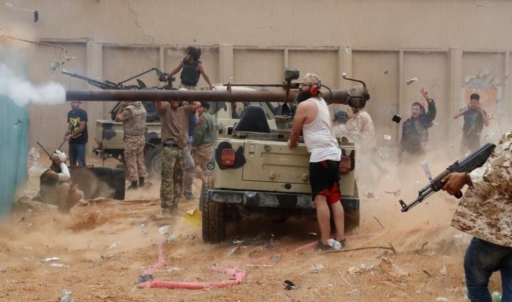 الوفاق الليبية تكثف طلعاتها العسكرية.. ومقتل 7 مقاتلين موالين لحفتر قرب طرابلس
