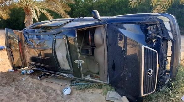 وفاة شخص وإصابة 4 آخرين في حادث برأس الخيمة