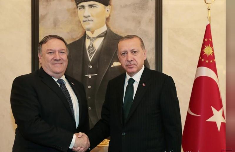 بومبيو يلتقي أردوغان بعد محادثات مع السعودية بشأن خاشقجي