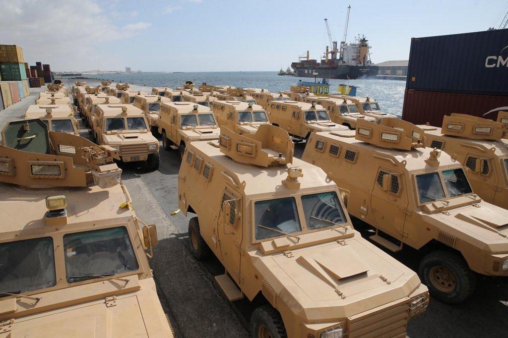 قطر تمنح الصومال 68 آلية عسكرية