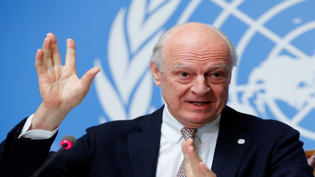 مبعوث الأمم المتحدة إلى سوريا دي ميستورا يتنحى في نهاية نوفمبر