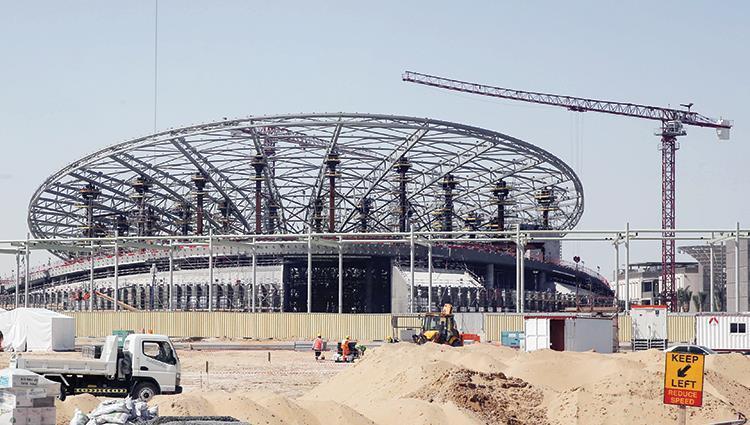 الأعمال الإنشائية لـإكسبو 2020 دبي تدخل مرحلة الذروة قبل 550 يوماً على الانطلاق