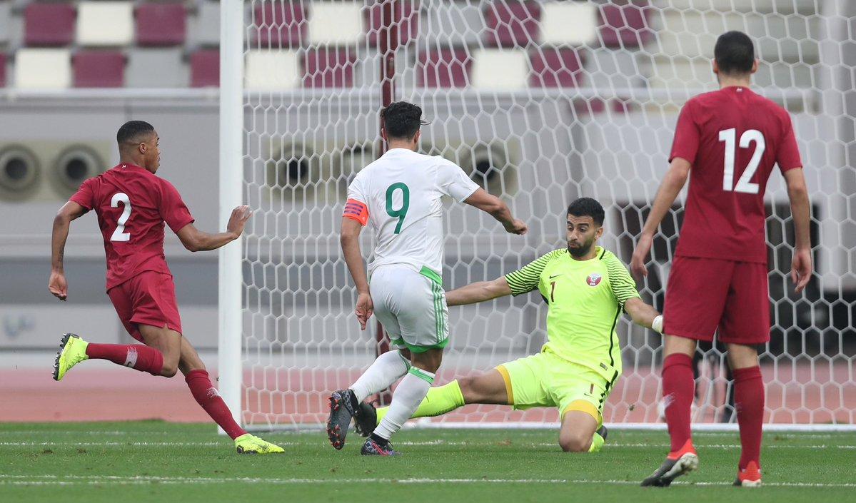 قطر تخسر من الجزائر بهدف وديًا قبل أمم آسيا
