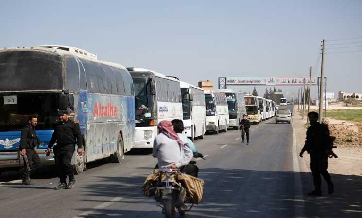المرصد السوري: تعليق عمليات إجلاء المعارضة في بلدة دوما بالغوطة الشرقية