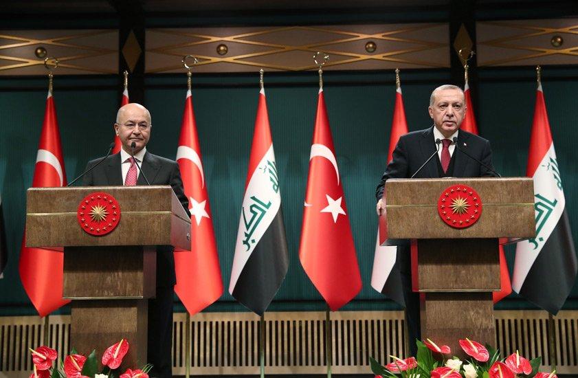 أردوغان: نرغب بتطوير التعاون الأمني والاقتصادي مع العراق