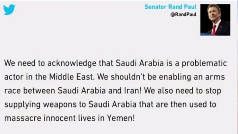 سيناتور أميركي: السعودية مصدر لإثارة المشاكل بالمنطقة