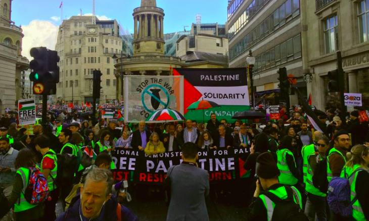 مسيرة ضخمة في لندن إحياء لذكرى النكبة الفلسطينية