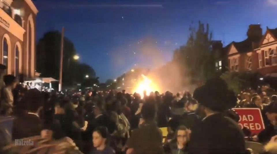 شاهد: 30 مصاباً في انفجار خلال حفل يهودي شمالي لندن