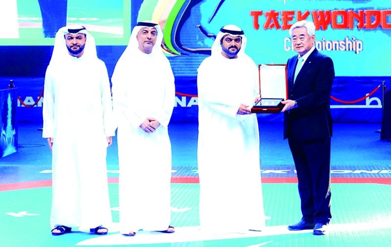 محمد الشرقي يشهد افتتاح بطولة الفجيرة الدولية للتايكوندو