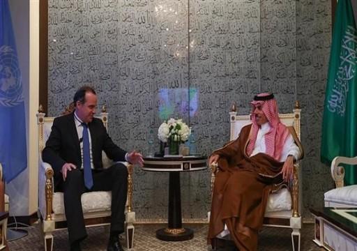 وزير الخارجية السعودي يبحث مع مسؤول أمريكي إرساء الاستقرار بالمنطقة