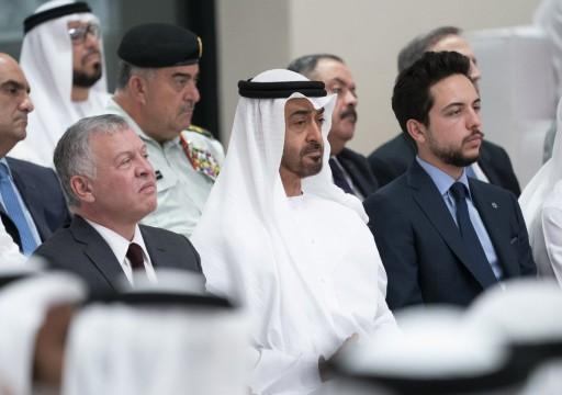 محمد بن زايد وعاهل الأردن يبحثان العلاقات الثنائية وكورونا