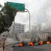 متظاهرون مؤيدون للإمارات في الضالع ينددون  بملك السعودية