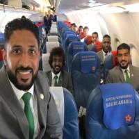 بعثة المنتخب السعودي تصل موسكو لمواجهة روسيا المستضيفة