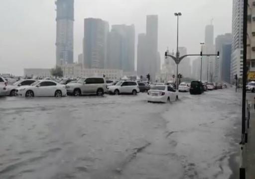 هطول أمطار غزيرة على مناطق متفرقة من الدولة