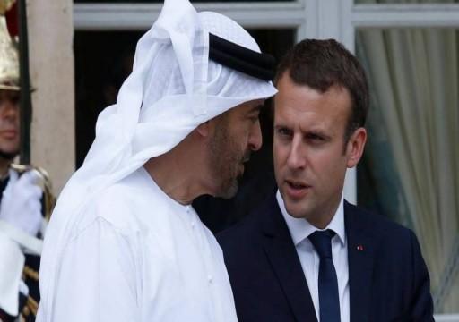 محمد بن زايد يبحث مع ماكرون التوتر في الشرق الأوسط