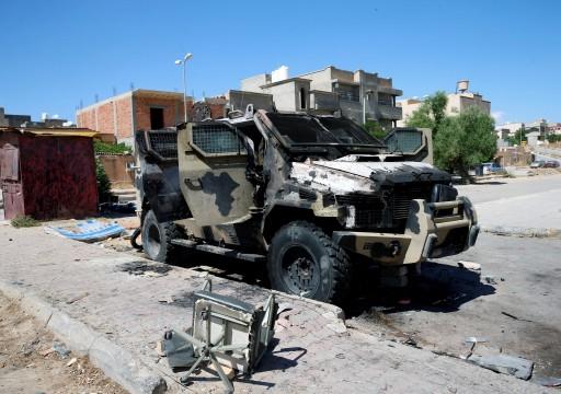 قوات الحكومة الليبية تعلن تدمير 4 مدرعات إماراتية جنوبي طرابلس