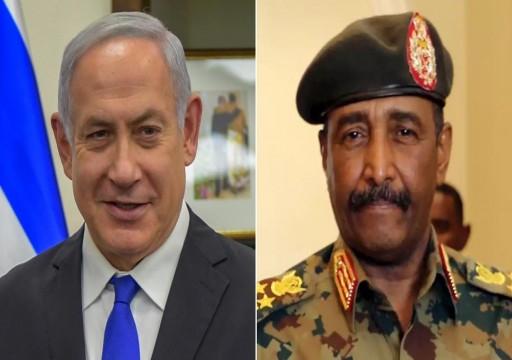 اتفقا على تطبيع العلاقات.. مسؤول إسرائيلي: نتنياهو اجتمع مع رئيس السيادي السوداني في أوغندا