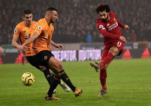 ليفربول يواصل مسيرته نحو اللقب بالفوز 2-1 في ملعب ولفرهامبتون