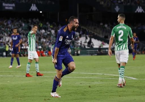ريال مدريد يهزم ريال بيتيس وينضم لفرق الصدارة بالدوري الإسباني