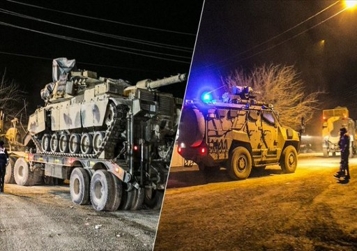 تركيا ترسل تعزيزات عسكرية جديدة إلى الحدود السورية