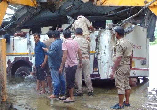 الهند.. مقتل 29 شخصاً بسقوط حافلة ركاب شمالي البلاد