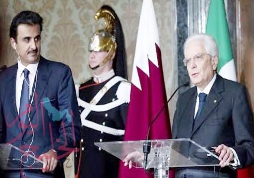 أمير قطر يبحث مع الرئيس الإيطالي تطورات الأحداث بالمنطقة
