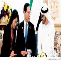 محمد بن زايد يبحث التنسيق العسكري والدفاعي مع وزير دفاع كوريا الجنوبي